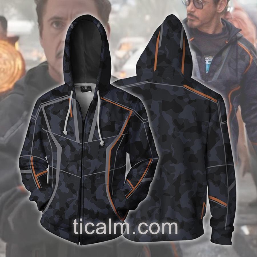 Avengers Iron Man Tony Stark 3D Hoodies Streetwear  Sweatshirt Cosplay Jacket
