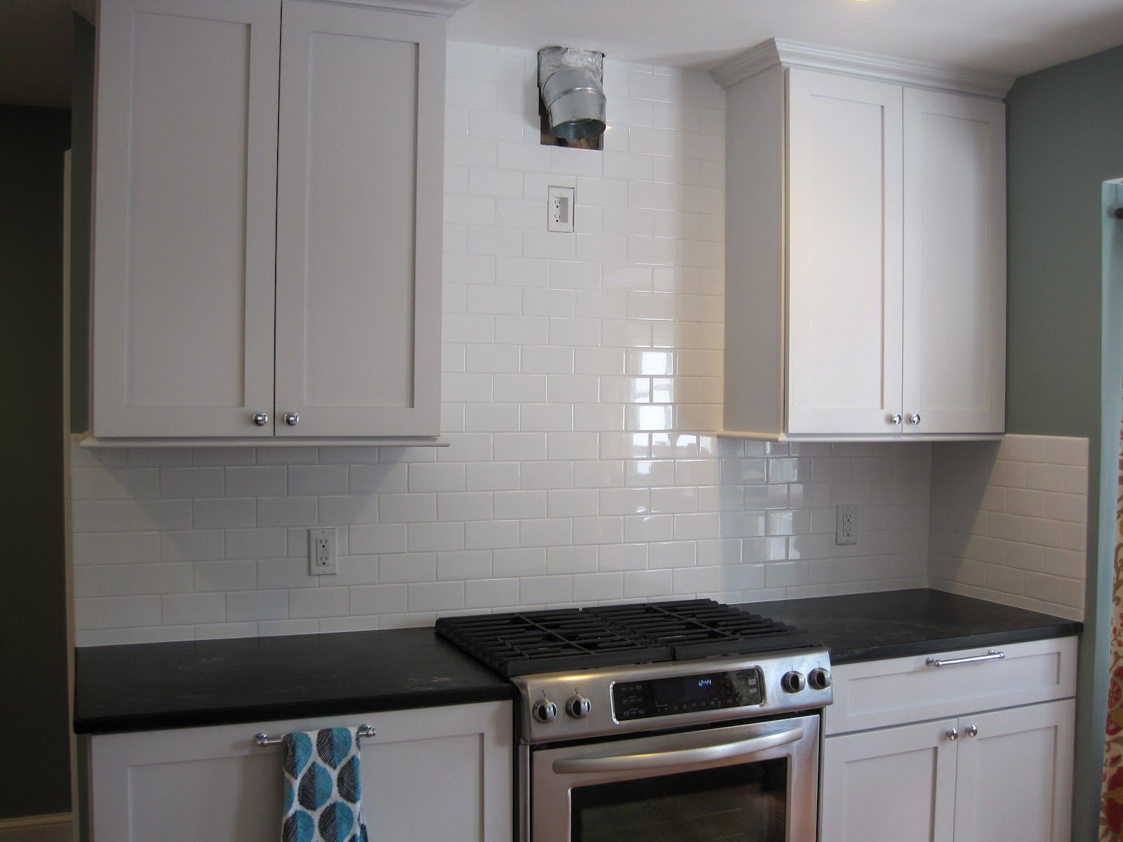 kitchen subway tile backsplash ideas with white cabinets from White ...