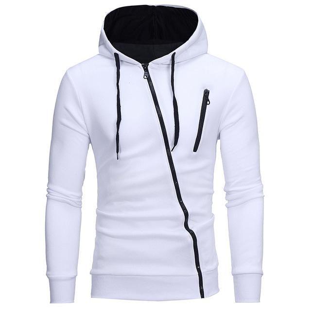 Mens Long T-Shirt Casual Jacket Extended Zipper Slim Fit Tops Hoodies Coat Black