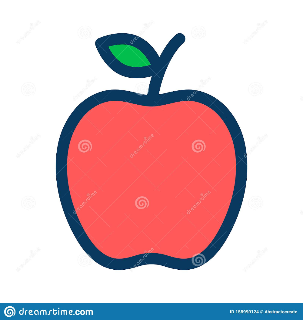 Apple Filled Outline Icon Line Vector Sign Linear Colorful Pictogram Isolated On White Stock Vector Illustration Of D Pictogram Vector Illustration Outline