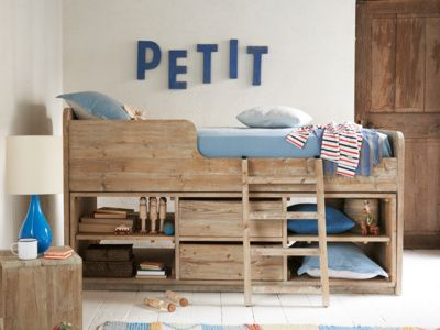 Beautiful Beds French Wooden Upholstered Loaf Kids Cabin