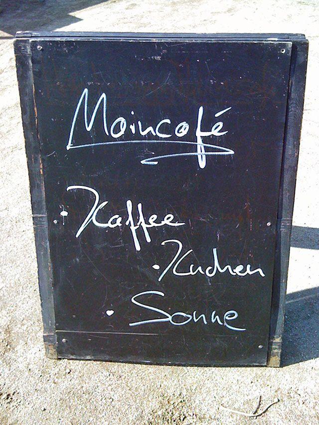 Kaffee - Kuchen - Sonne  @ Maincafé FFM