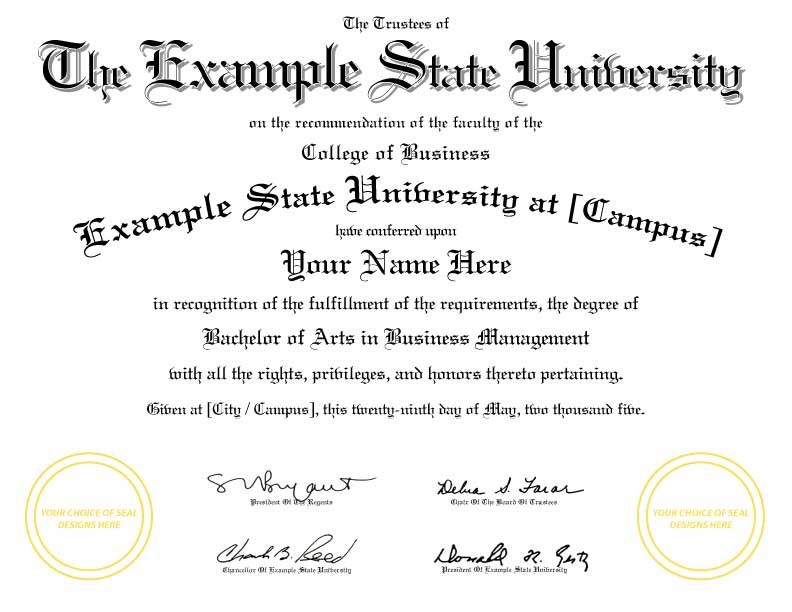 Fake University Diploma Template 03g 792612 Certificate