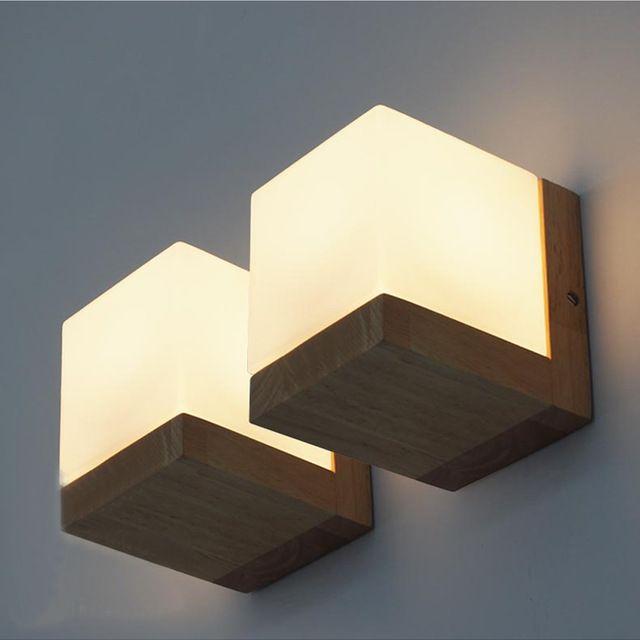 Moderne Bois Couloir En Lampe Pour Applique Murale Chambre CEeQBdrxoW