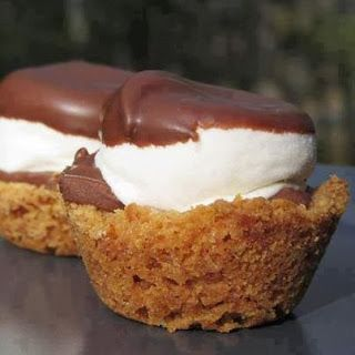 S'mores cups! I replaced the marshmallow with homemade marshmallow fluff....yummy!