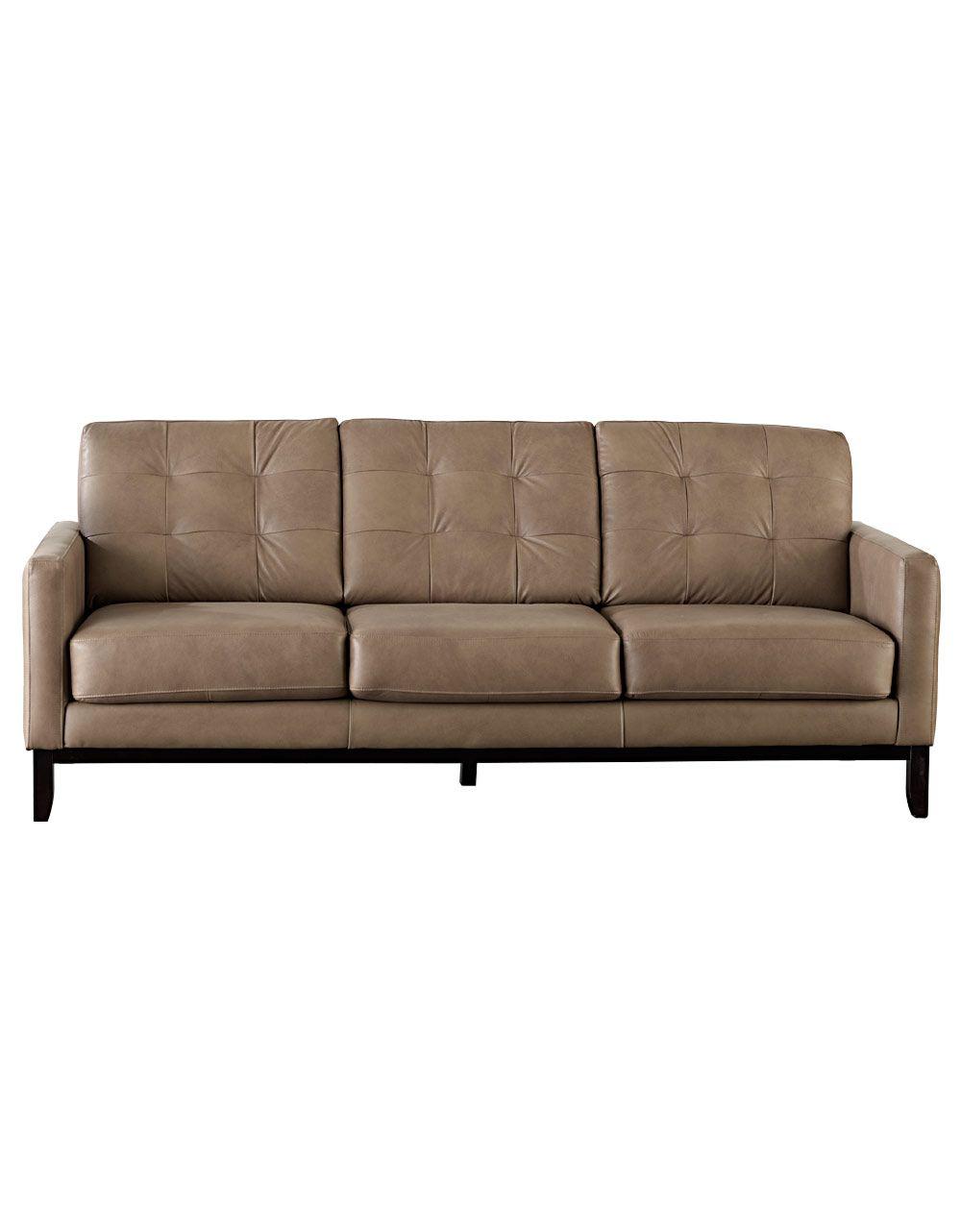 Dawson Tufted Back Leather Sofa