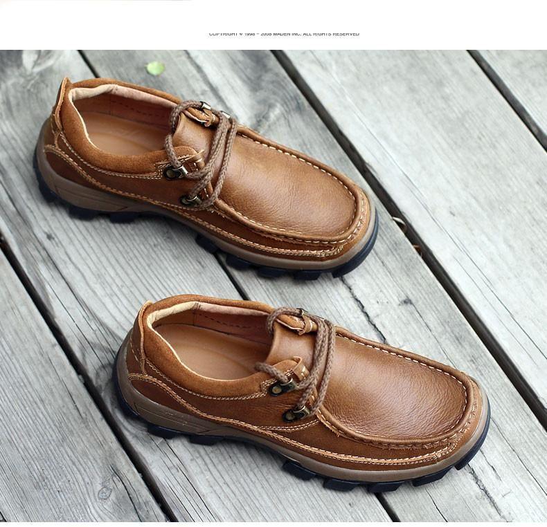 Genuine Leather Men's Shoes 2019 Autumn