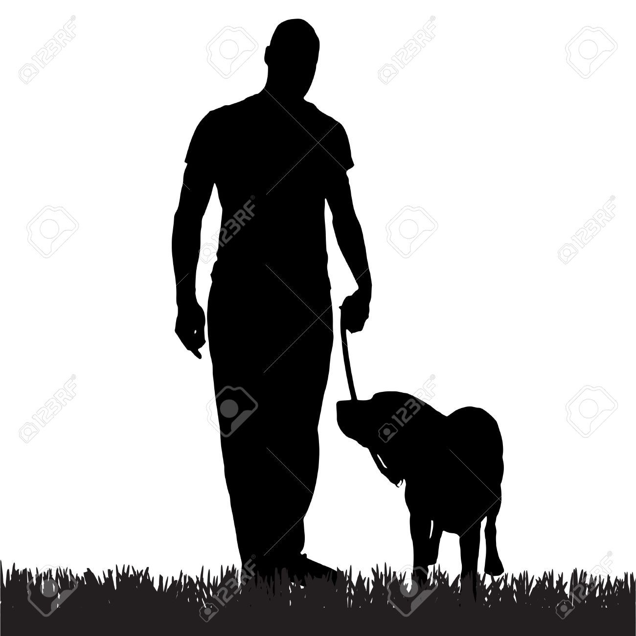 Stock Vector | Dogs | Dog silhouette, Silhouette tattoos