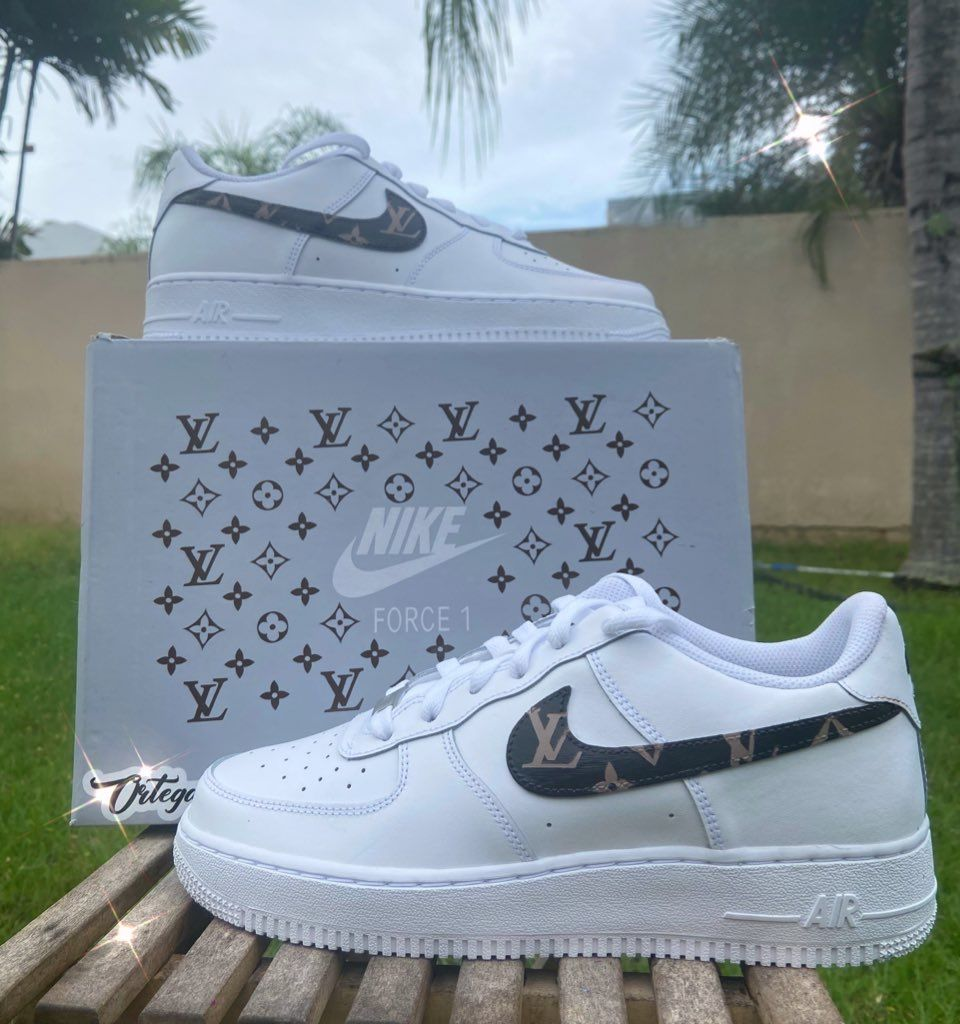 Louis Vuitton Custom Air Force 1 in 2020 Custom sneakers
