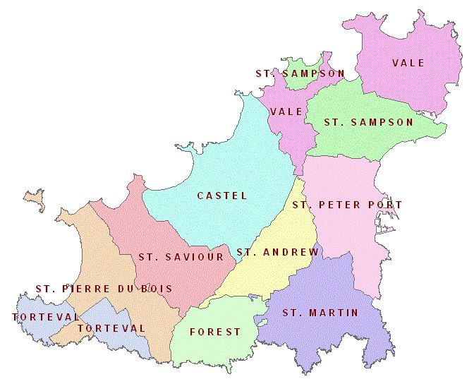 Map Of Guernsey Map of Guernsey Parishes | Guernsey   For Information | Guernsey