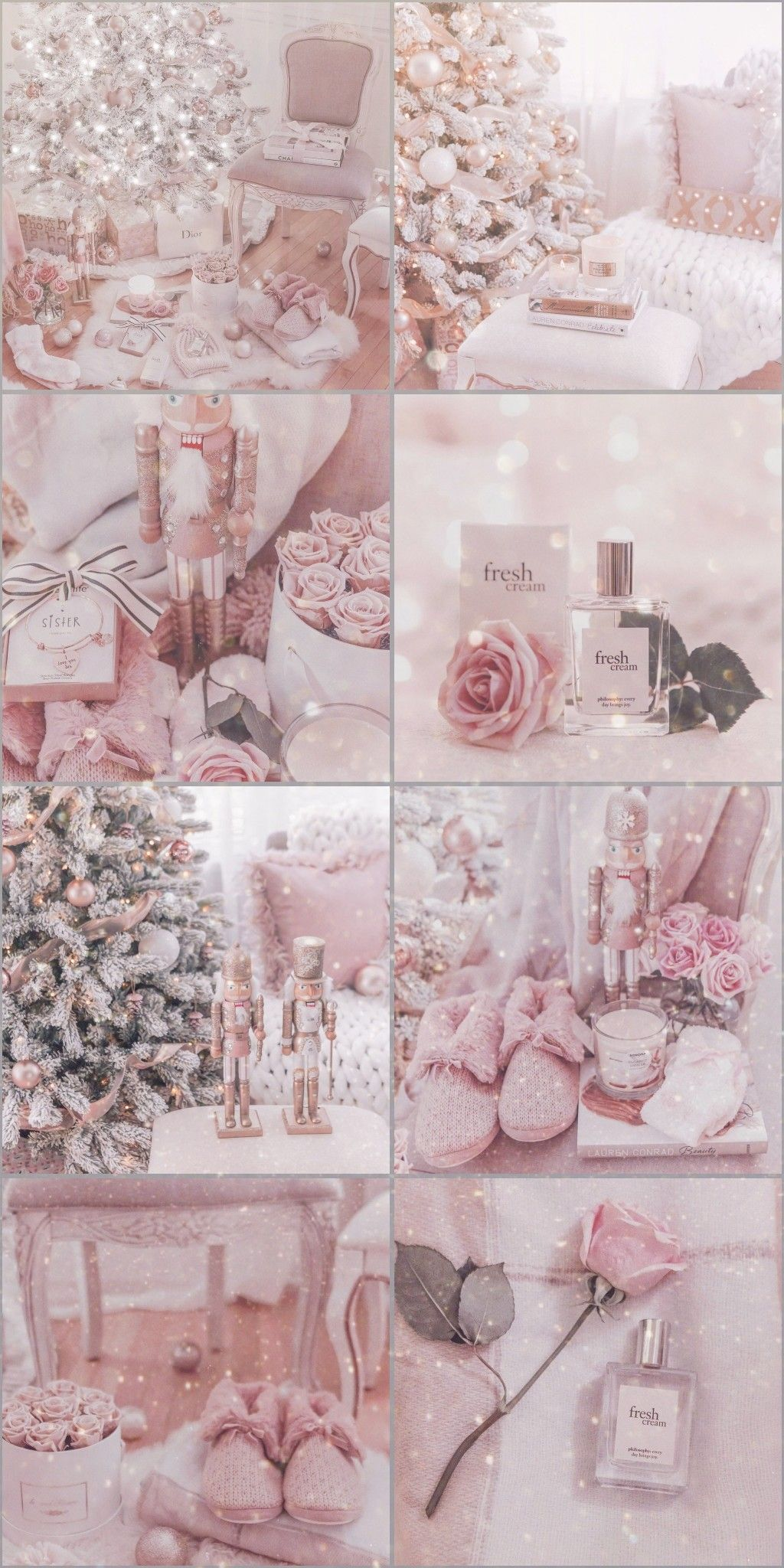 Pin by meikawaiiworld on Collage Wallpapers   Pink christmas, Pink christmas decorations ...