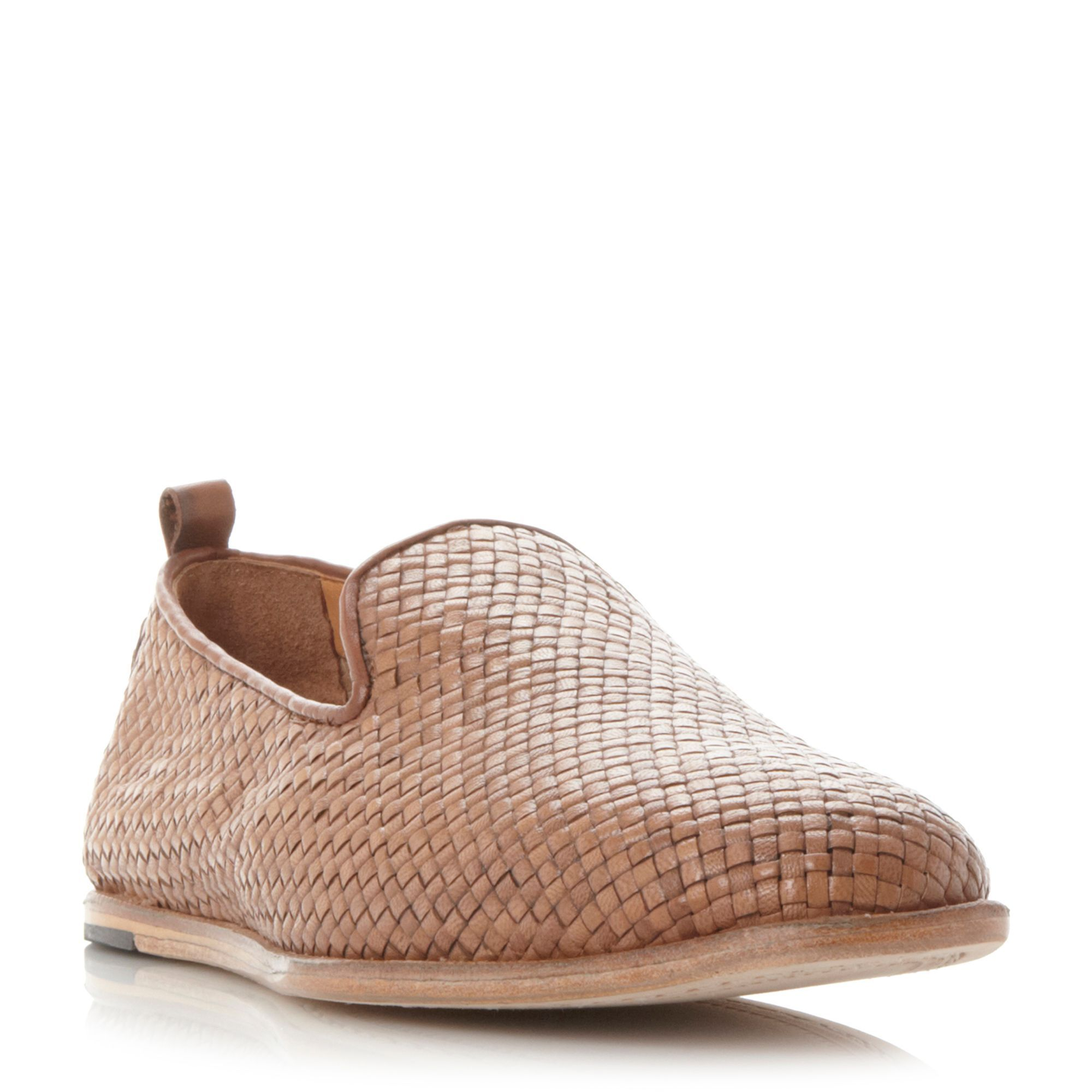 H by Hudson Ipanema woven slip on sandals, Tan