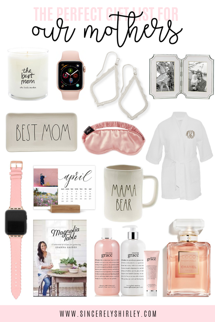 Mother's Day is right around the corner, so it's time to start looking for the perfect gifts for our moms! To make this less stressful, here's a guide to finding the perfect present for your mother or mother-in-law!