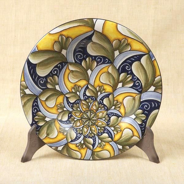 "Decorative plate, 17"" ships direct from Vietri Italy to you. Please contact us for pricing."