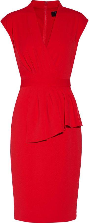 14+ Badgley mischka red peplum dress trends