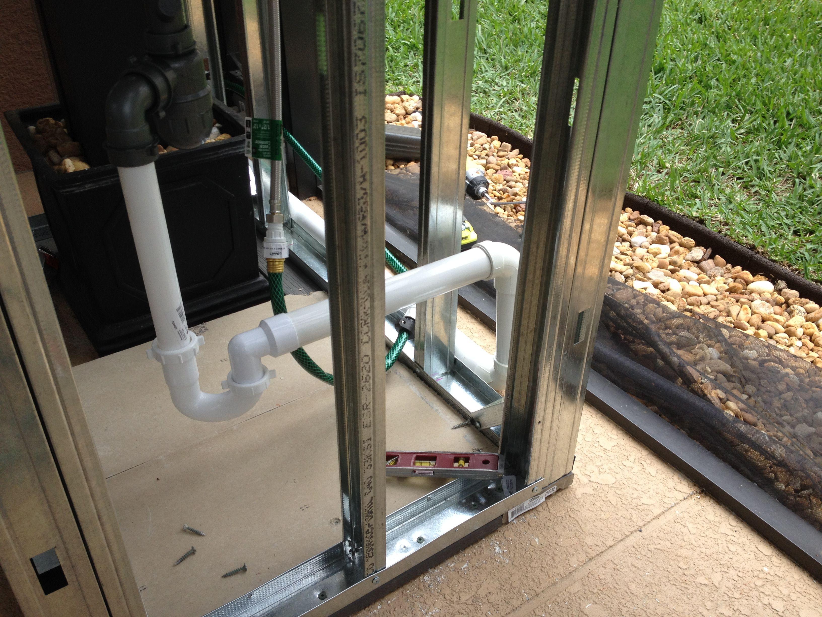 Sink Plumbing In Module. Bbq IslandBackyard ...