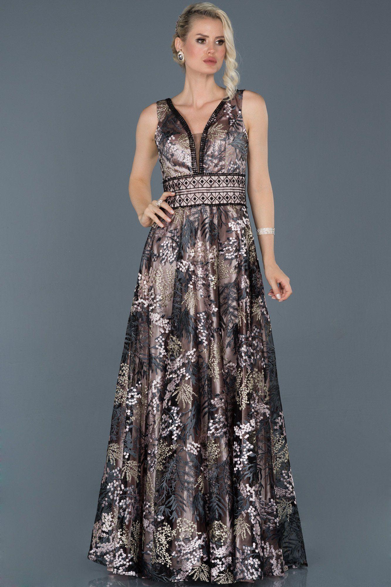Siyah Uzun Nakisli Abiye Elbise Abu931 Aksamustu Giysileri Elbise Modelleri Uzun Elbise