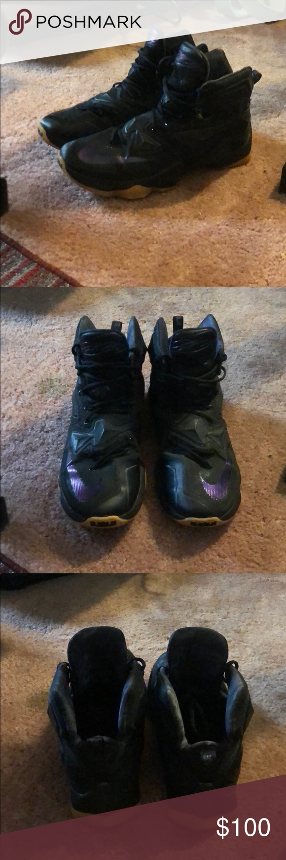 promo code 8bd34 e8f0c LeBron 13 Black with gum bottom Mint condition LeBron 13 Black with gum  bottom sneakers only