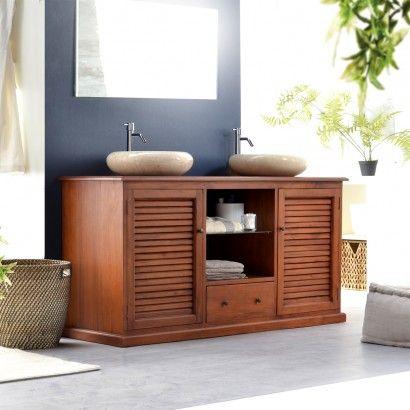 Badezimmer, Waschbeckenunterschrank Für 2 Waschbecken Rund Granit Mit  Materialien Schrank Aus Mahagoni Für Waschbeckenunterschrank Landhausstil.