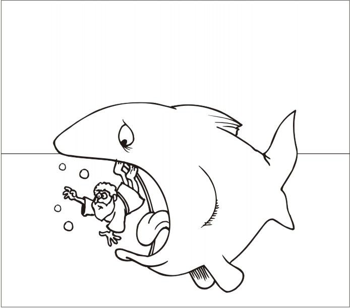 JONAH AND THE WHALE COLORING « Free Coloring Pages | Sunday School 5 ...