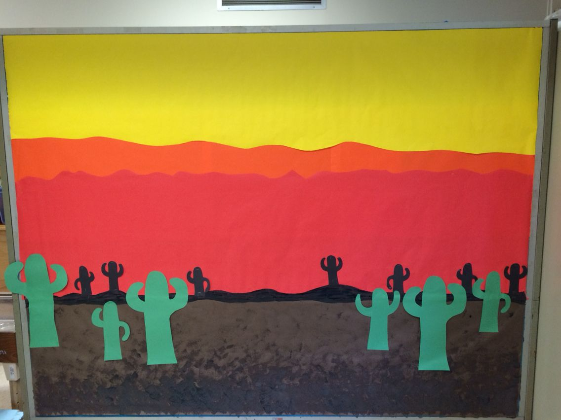 Summer Classroom Decorations ~ Desert themed bulletin board preschool