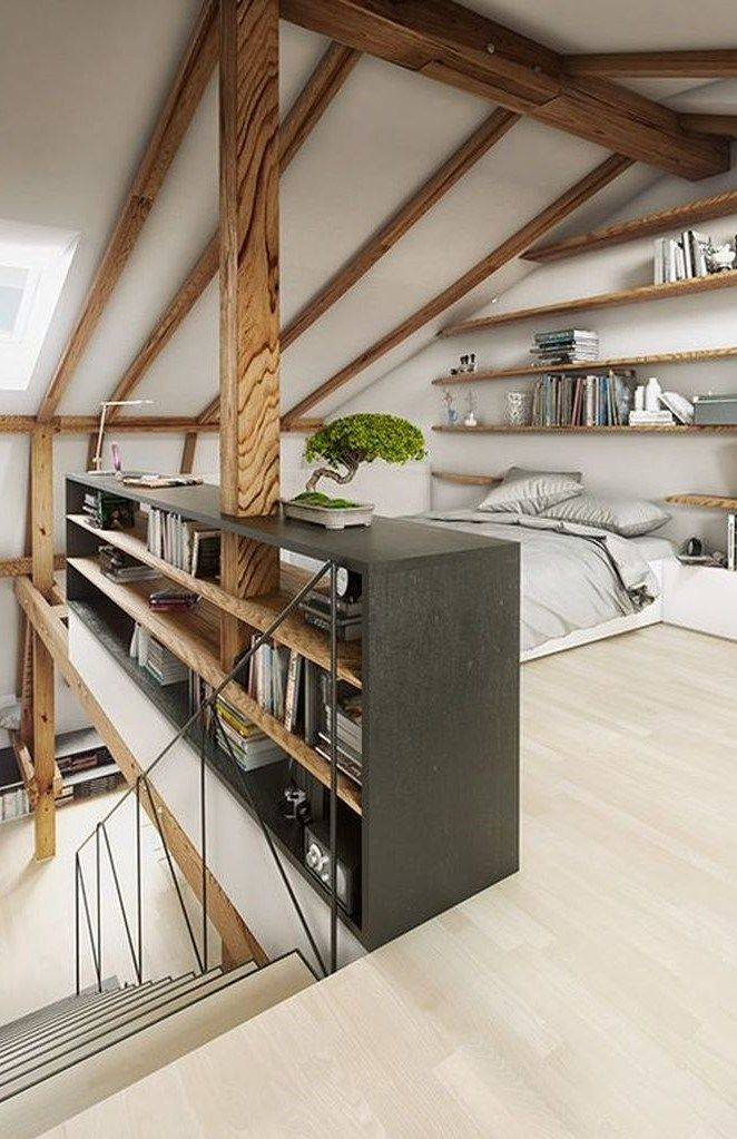 Photo of 30 Awesome Loft Bedroom Apartment Decoration Ideas ~ Matchness.com