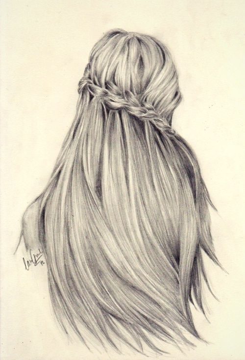 beauty hairstyle drawing