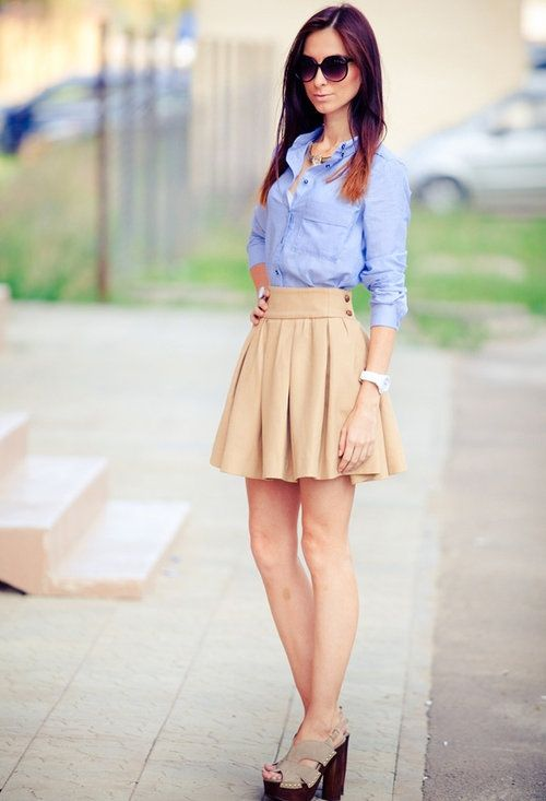 214f70e1fee7 preppy skirt outfit - Google Search | Fashion | Preppy skirt outfits ...