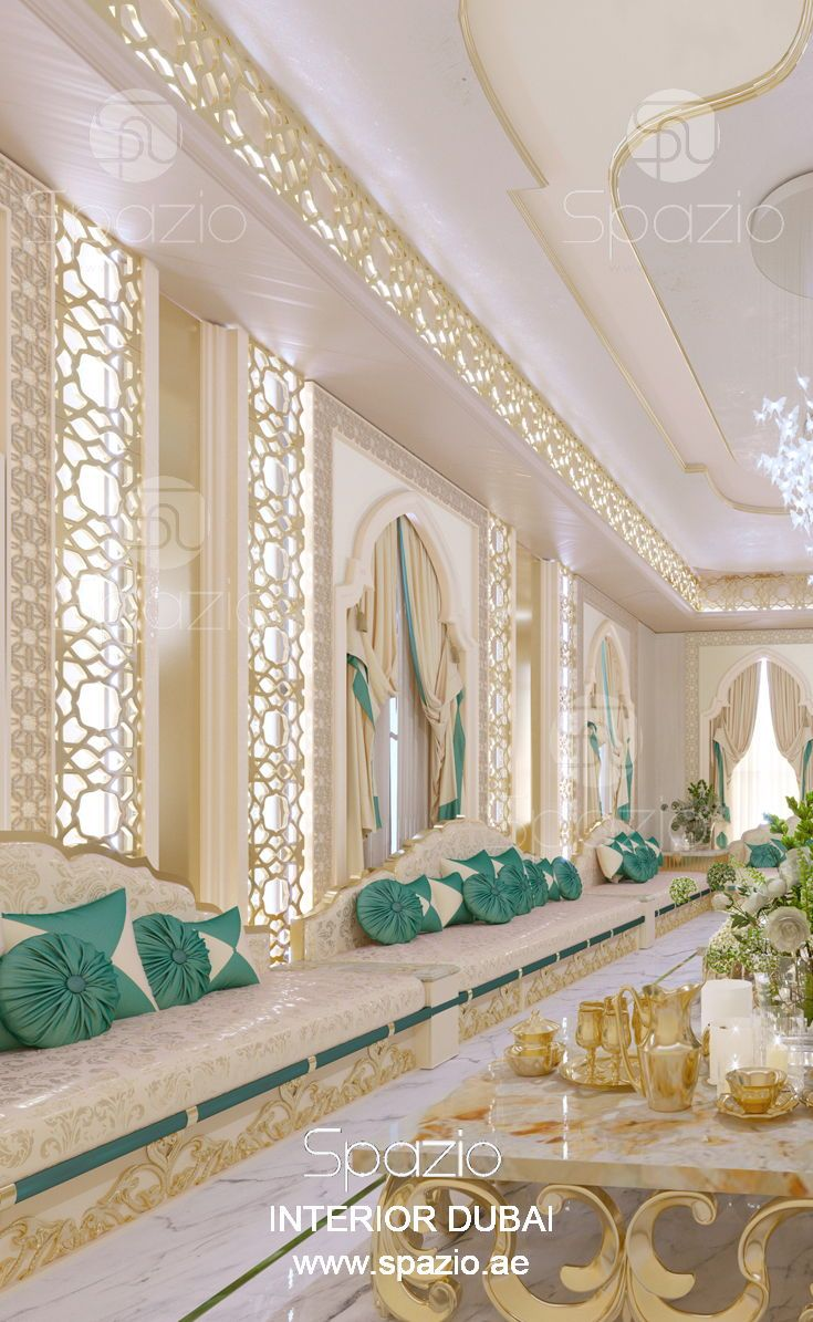 moroccan colors living room. The interior desig made by designers of ...