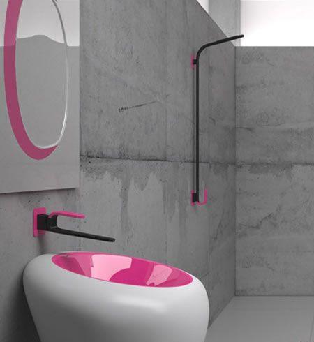 Kawa Bathroom Faucet From Karim Rashid Redefines Elegance Home - Kawa-sexy-bathroom-furniture-by-karim-rashid