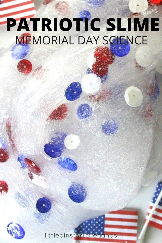 Patriotic Slime For Memorial Day Science Little Bins For Little