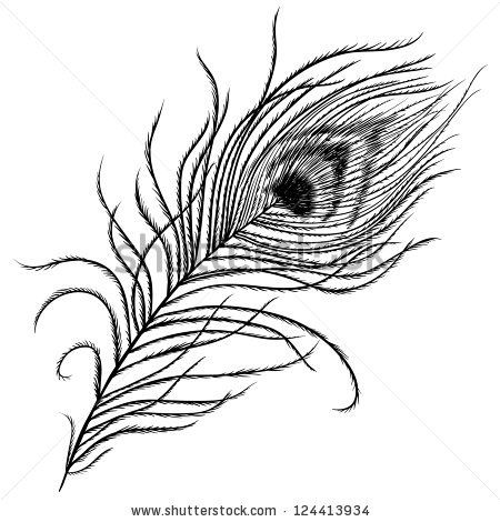Black And White Peacock Feather Feather Tattoo Black Peacock Feather Drawing Peacock Feather Tattoo