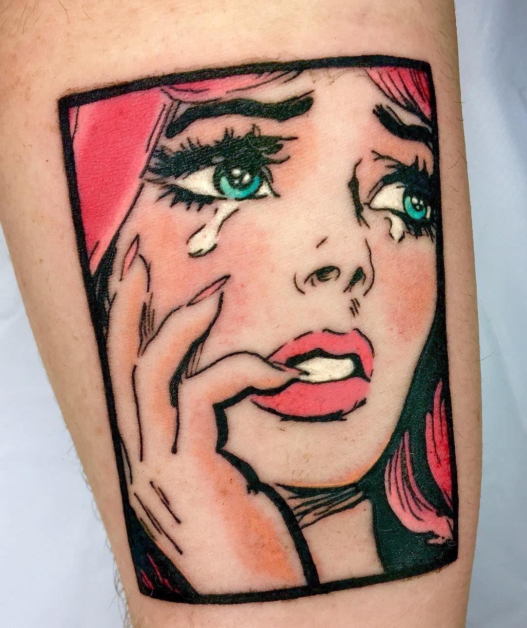 Cool Little Pop Art Piece I Got To Do Before Christmas Beautytatoos Pop Art Tattoos Cartoon Tattoos Cool Tattoos