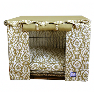 Transform the crate into a luxury dog den with this