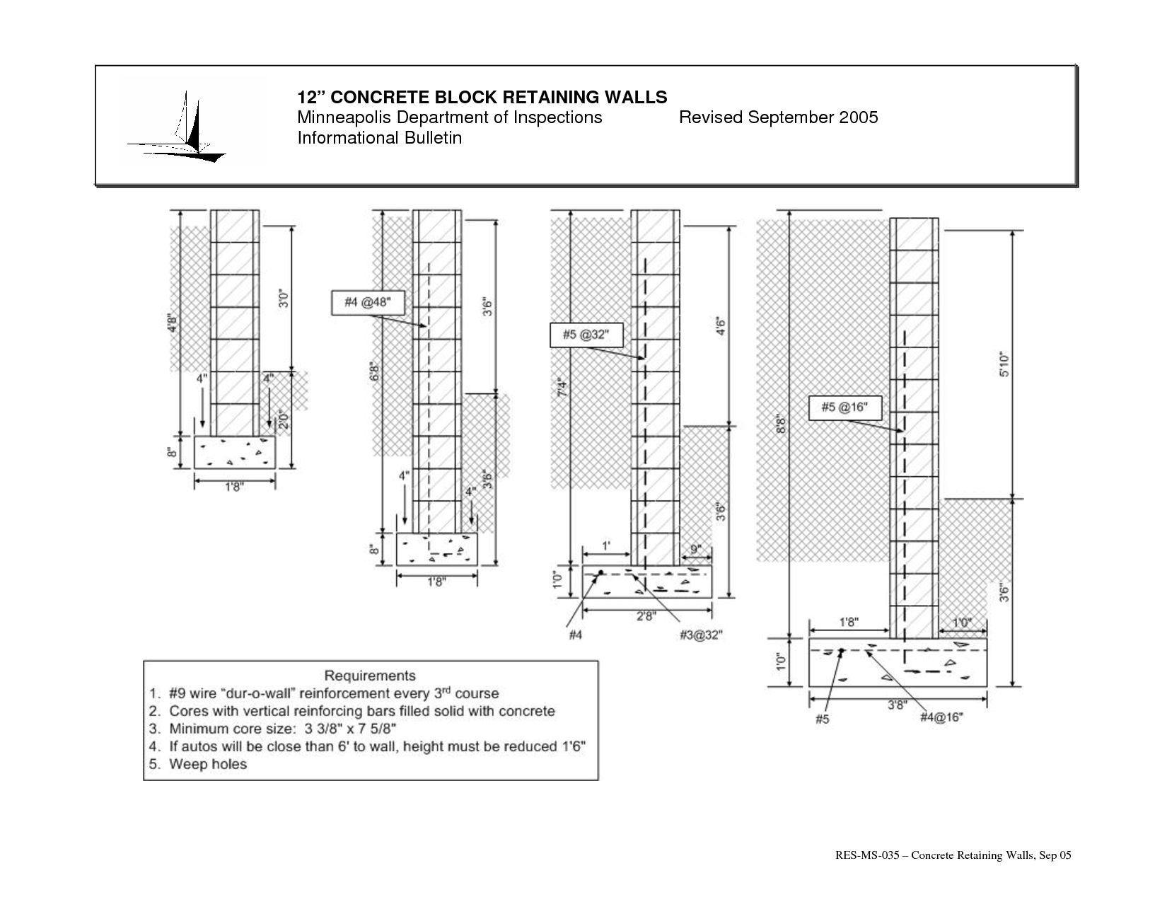 Concrete Retaining Wall Engineering Design