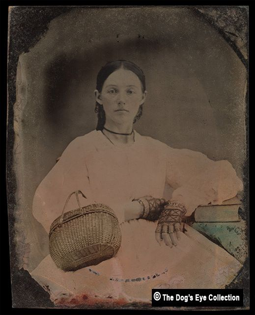 Southern Belle: Tintype c.1860 #dressesfromthesouthernbelleera