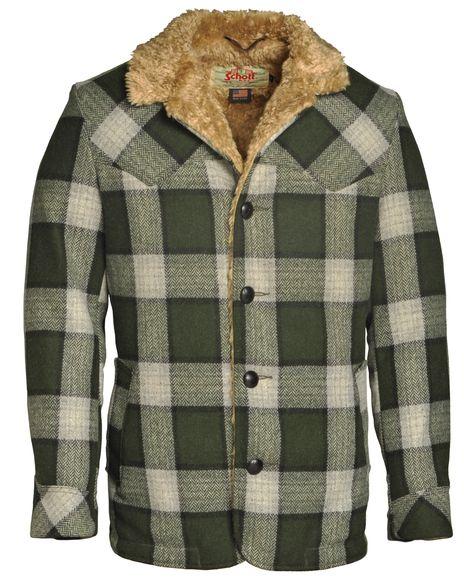 8fdf81ef20b4f Men's Wool Plaid Rancher Coat 739P   Cowboy Fashion   Plaid, Schott ...