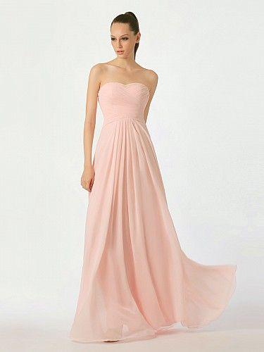 Bodenlang Ausgestellt Brautjungfernkleider aus Chiffon mit Faltenkleid.  AbendkleiderHochzeitenBezahlbare ... 295371df8b