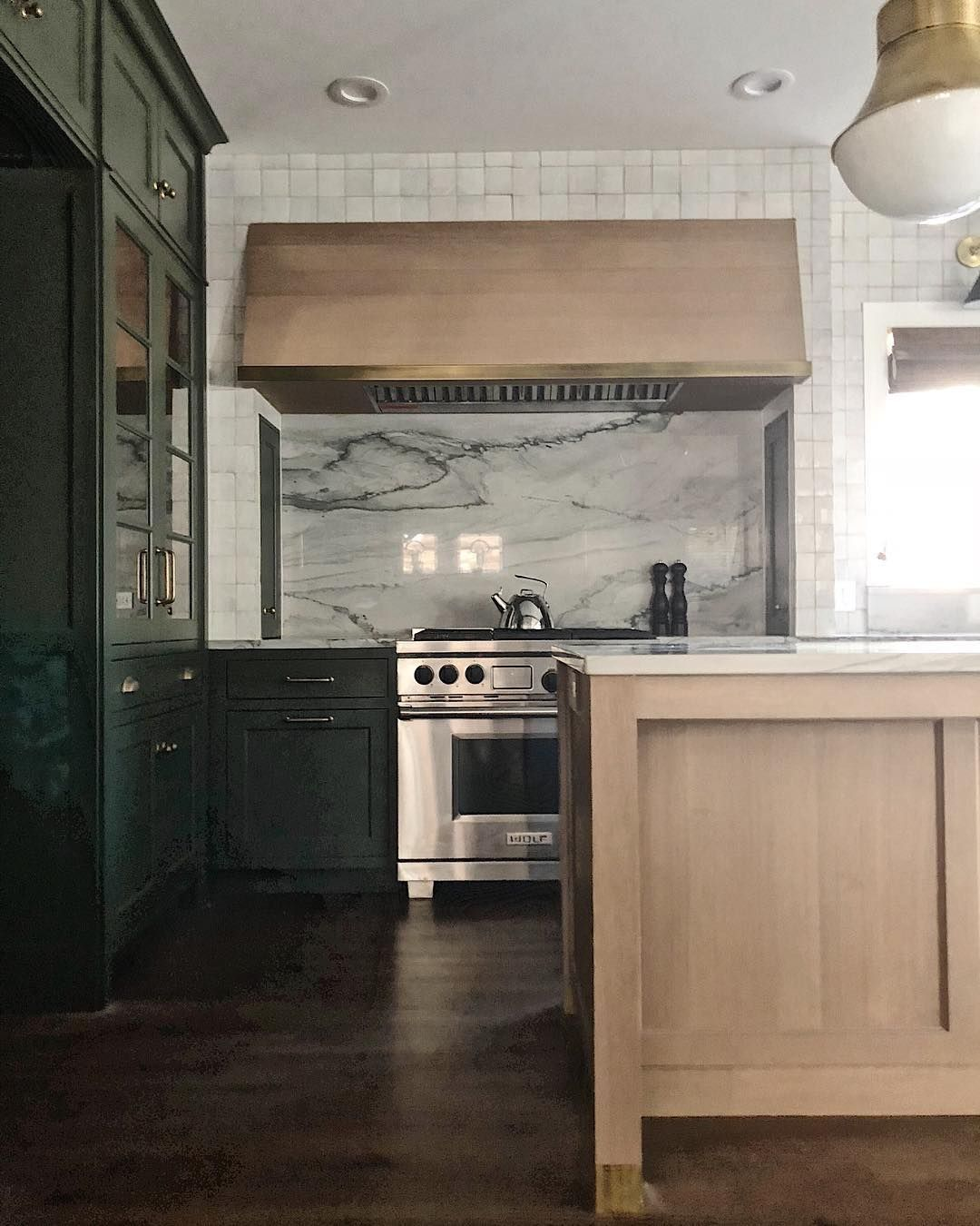 477 Likes 11 Comments Jean Stoffer Jeanstofferdesign On Instagram Sumptuous Green Weathered Oak Unlacque Weathered Oak Kitchen Renovation Oak Kitchen