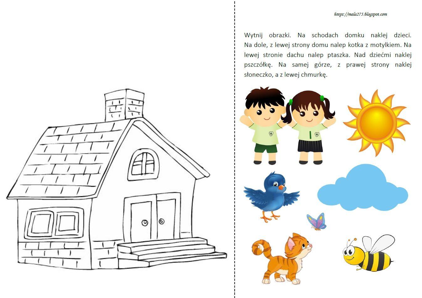 Blog Edukacyjny Dla Dzieci Orientacja Przestrzenna Karta Pracy In 2020 Comics Diagram
