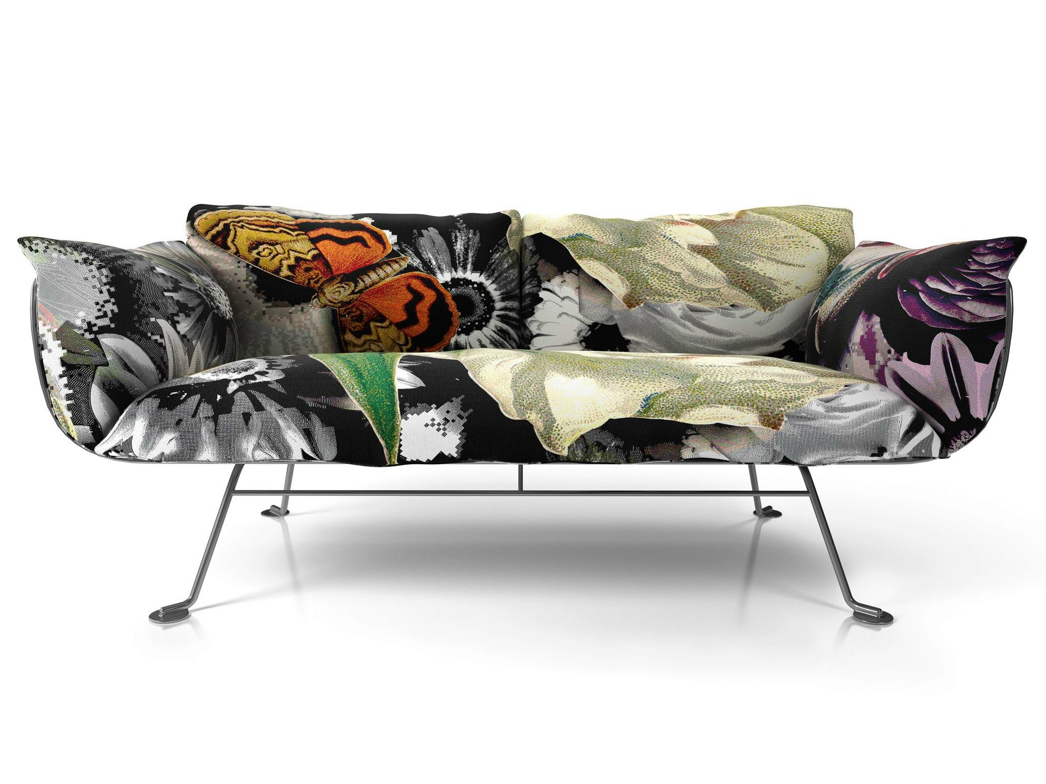 Sofa Sleeper Large designer sofa with bold upholstered finish from Moooi Designed by Marcel Wanders the Nest Sofa features a bold print upholstery in an array of lush