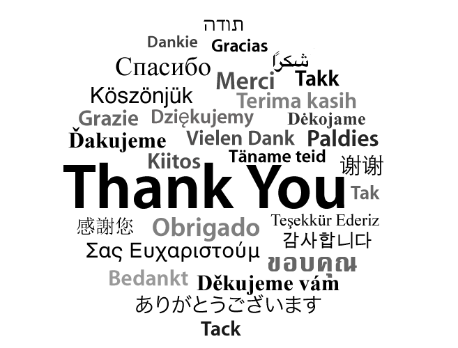 Thank You In Many Languages Thank You Pinterest Thankful