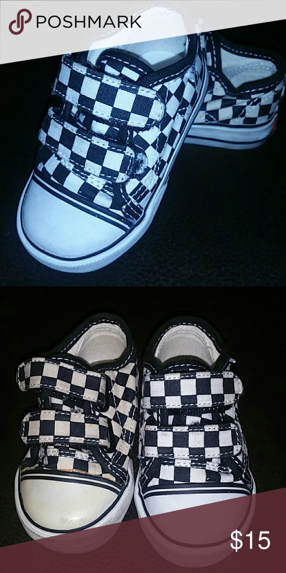 4c73f83926 Checkered Vans - Size 4 Baby Fun kicks! Used but great conditon Vans Shoes  Sneakers