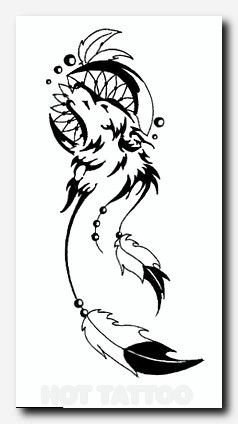 Tattoos Hot Tattoo Wolf Dreamcatcher Tattoo Dream Catcher Tattoo Design Tribal Tattoo Designs
