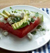 Watermelon Salad with Vidalia-Onion Vinaigrette