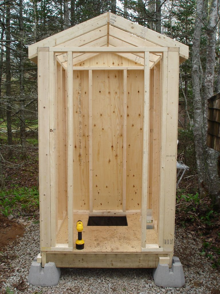 Building an outhouse building an