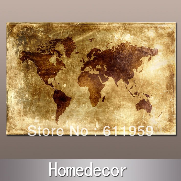 Huge ancient nautical world map canvas painting printing no frame huge ancient nautical world map canvas painting printing no frame modern wall painting homeliving sciox Images