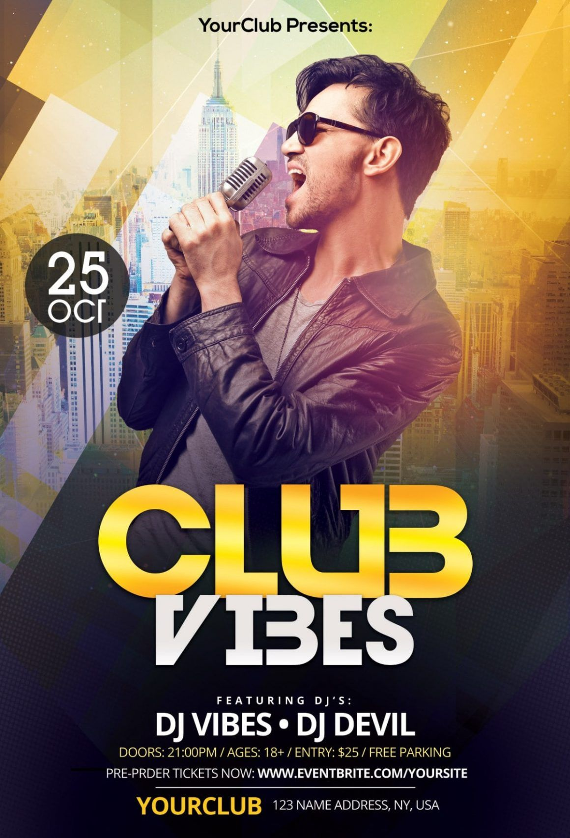 Club Vibes Download Free Psd Photoshop Flyer Template Free Psd