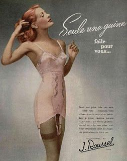 fe93c111f Fashion  Ad for women s underwear in the later 40 s.