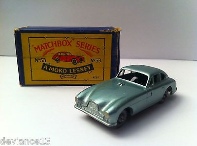 Matchbox Rare Mw Lesney 1950's Moko A Aston Martin 2 53 Green Met Db 6fyYbg7